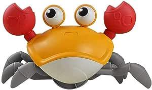 Wind Up Crab Toys for Kids Baby Bath Toys Walking Crab Water Toys Beach Toys Kid (Orange)