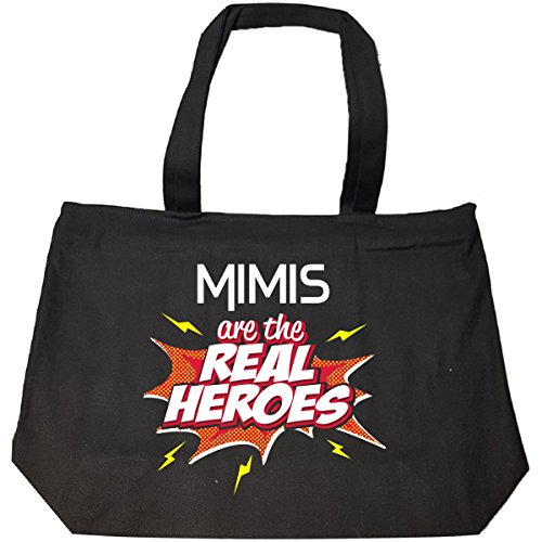 Mimis Are The Real Heroes Cute Gift For Grandmother - Tote Bag With Zip