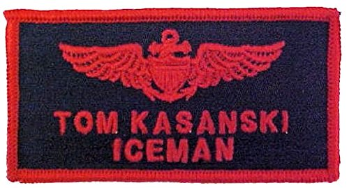 Top Gun Tom Iceman, Goose or Maverick Embroidered Flight Badge