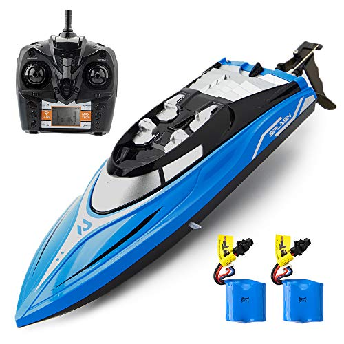 Remote Control Boat, ROTOBAND RC Boat for Pools and Lakes 2.4GHz 25km/h High Speed Remote Boat Toys Summer Gifts for Kids and Adults (Blue)
