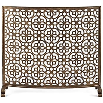 Amazoncom Mid Century Modern Geometric Fretwork Fireplace Screen