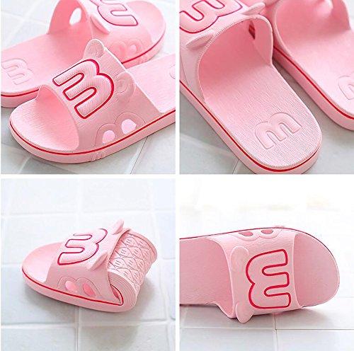 Chaussures L'eau Pour Salle Dérapant Maison Douche Slippers On Bain Mules De De Femmes Pool Anti Chaussures Foams De Slip Sandales Sole pink Soft IH1qz