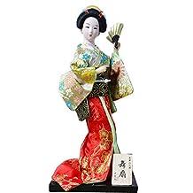 Japanese Geisha Doll In Kimono Furnishing Articles, Random Style