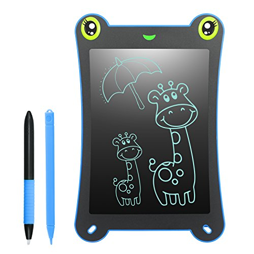 WOBEECO LCD Writing Tablet Frog Pad Children Doodle Pad Scribble Game Magnetic Drawing Board Kid's Fun Toy Smart Learning Tool 2 Styluses Included (Blue) by WOBEECO (Image #7)