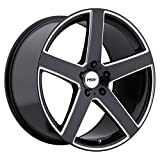 TSW RIVAGE 19x8.0 5/114.3 ET30 CB76.1 GLOSS BLACK W/MILLED SPOKE