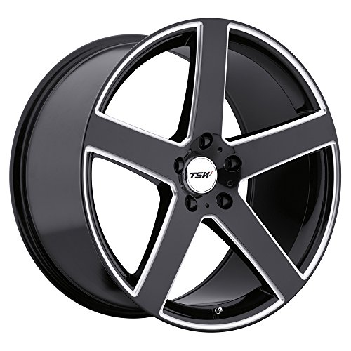 TSW RIVAGE 19x8.0 5/114.3 ET30 CB76.1 GLOSS BLACK W/MILLED SPOKE by TSW