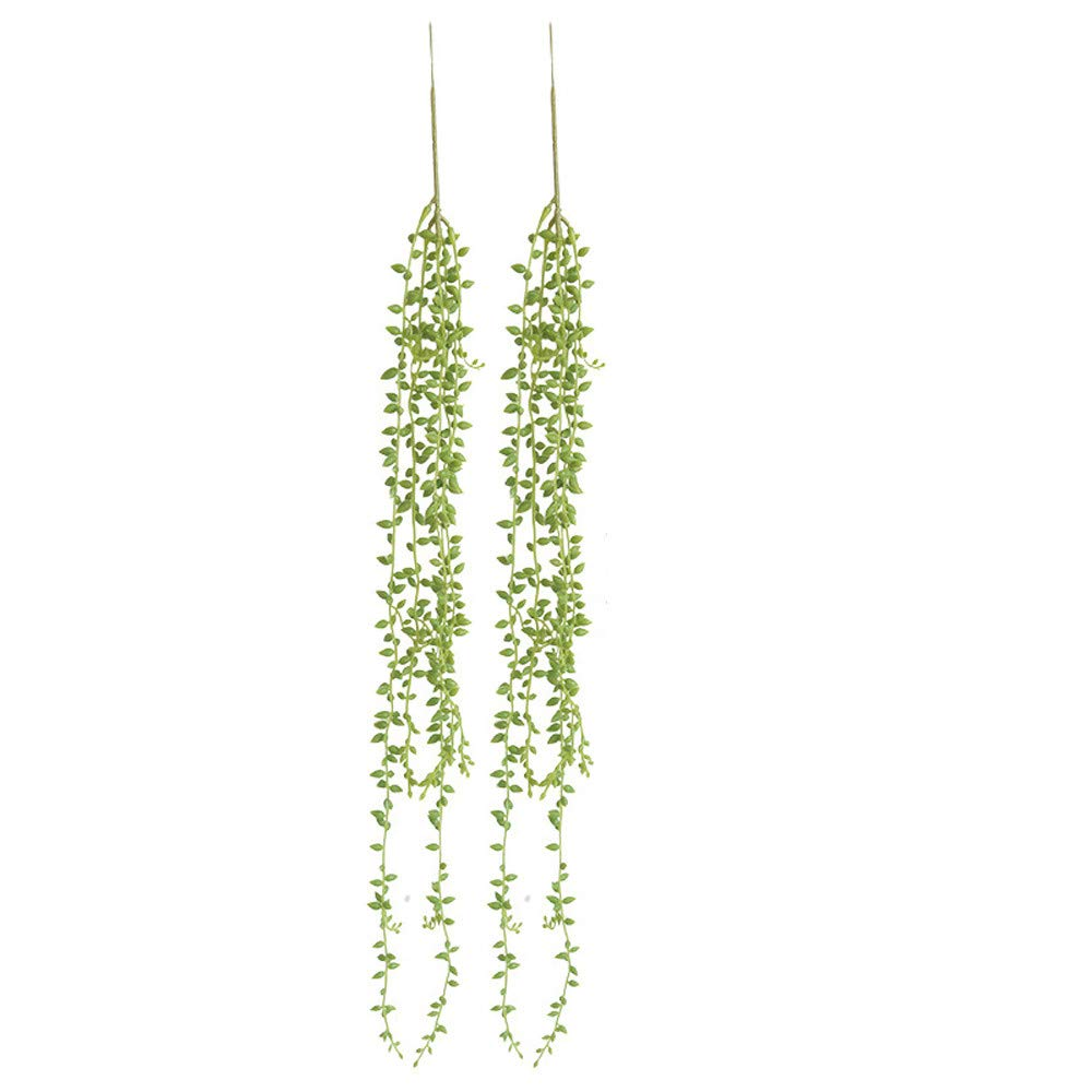 XGao-2pcs-Artificial-Succulents-Beads-Simulation-Fake-Flower-Lover-Tears-Vine-Wall-Hanging-Flowers-Orchid-Hanging-Plants-Garland-Living-Room-Balcony-Wedding-Home-Garden-Outdoor-Decoration-Green