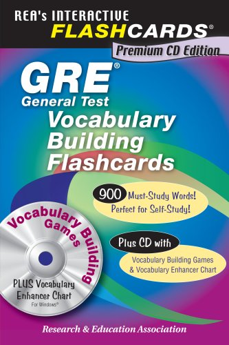 GRE Vocabulary Flashcard Book w/CD-ROM (GRE Test Preparation)