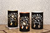 CraftVatika Set Of 3 Metal Candle Tea Light Holder Votive Candle Jar Holder Candle Sleeve | Decorative Candle Holder Stand For Valentine Wedding & B'day Party Decoration