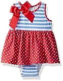 Flap Happy Baby Girls Jaya Skirted Romper, red