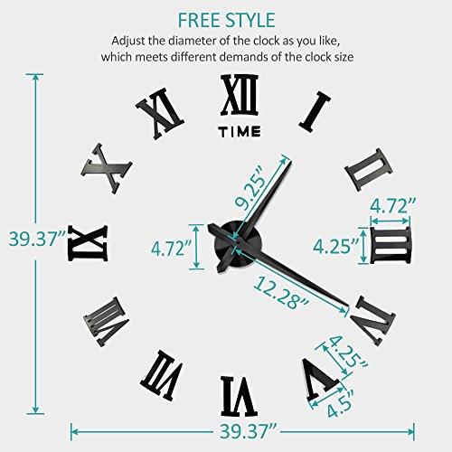 Vangold Large 3d Diy Wall Clock 2 Year Warranty Roman Import It All