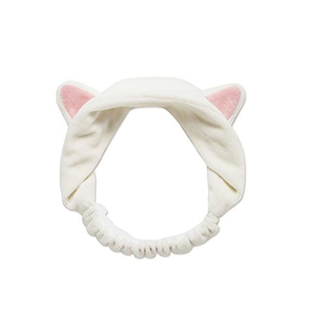 Lovely White Cat Ears Head Etti Headband Harajuku Hairband Convenient To Makeup Cleaner Daily Beauty Tool