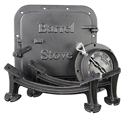 Vogelzang U.S. Stove BK100E BSK1000 Stove Barrel Stove Kit (Barrel Cast Iron Stove)