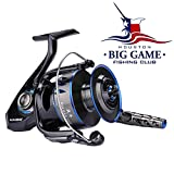 Cheap HaiBo Saltwater Fishing Reels, Max 66.1 lbs Drag Spinning Reel Used in Big-Game Saltwater Reel, Inshore Long Cast Surf Fishing Reel or Offshore Boat Jigging Saltwater Spinning Reel – Deep Sea 12000