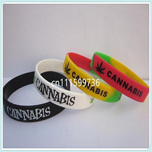 3 PC Cannabis Marijuana Pot Plant Leaf Silicone Bracelets Wristbands - Wristbands Marijuana