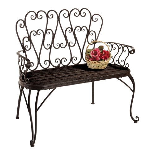 Design Toscano French Quarter Garden Bench (French Two Seat Bench)