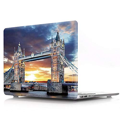 HRH London Tower Bridge Design Laptop Body Shell Protective PC Hard Case for Apple MacBook Old Pro 13 Inch with CD-ROM Drive (A1278),Release Early 2012/2011/2010/2009/2008