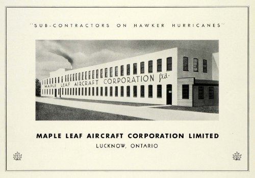 1942 Ad Maple Leaf Aircraft Corp Lucknow Ontario