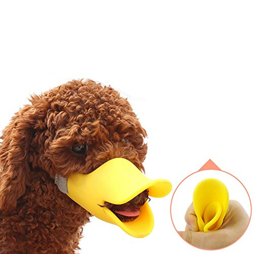 Yamde Anti Bite Duck Mouth Shape Dog Mouth Covers Anti-called Muzzle Masks Pet Mouth Set Bite-proof silicone material