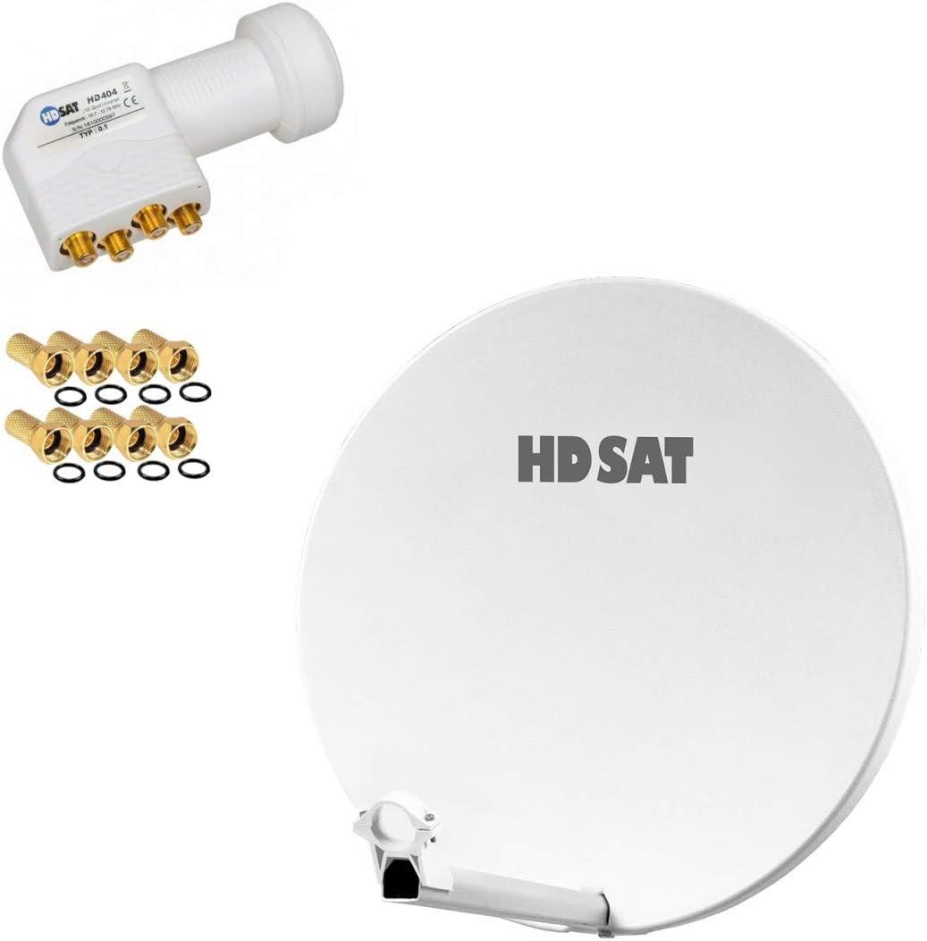 HDSAT Antena parabólica Fibra Composite Blanca 60 cm Brides ...
