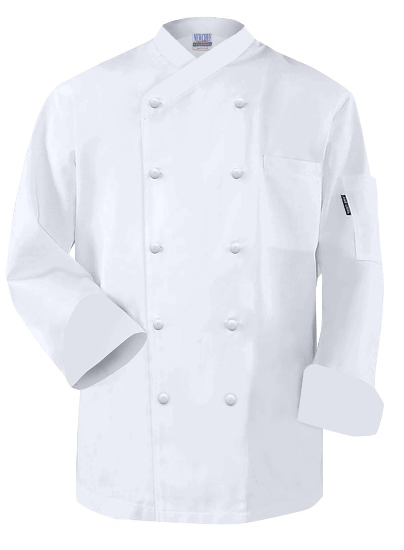 Newchef Fashion Frenchy White Egyptian Cotton Chef Coat M White