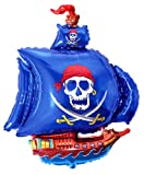 Fantastic Floatables PIRATE SHIP (BLUE) 36'' Anti-Gravity Flying Floating HOVERING Toy - Amazing NEW Interactive STRING-LESS Balloon. Absolutely ''No Strings Attached''!