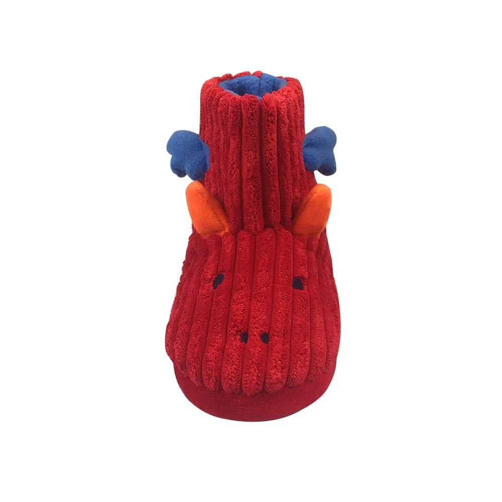 Winter Dinosaur Bootie Slipper Warm Fleece Comfy Cute Cartoon House Shoes for Toddler and Little Kid XZ-MUXX02