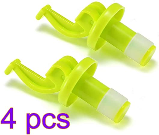 2Pcs Reusable Silicone Wine Bottle Stoppers Beer Wine Cork Plug Kitchen Bar Tool