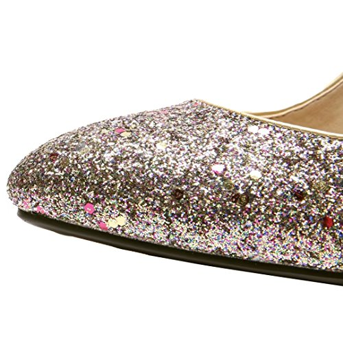 Slip Pumps Stiletto Court Gold Glitter Cut Sparkly Heels AIYOUMEI High Out Shoes Women on YIwda