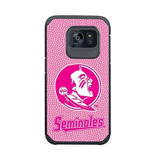 NCAA Florida State Seminoles True Grip Football Pebble Grain Feel Samsung Galaxy S7 Case, Pink
