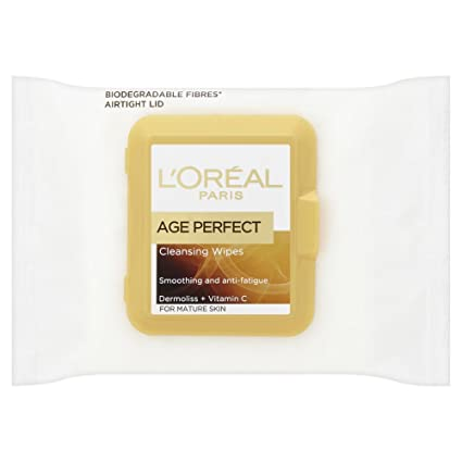 L Oreal Paris Edad Perfect Smoothing limpieza toallitas, ...
