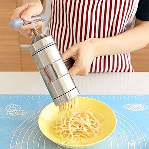 DyNamic Fideos Maker manual prensa máquina pasta espaguetis zumo de frutas de acero inoxidable - 5: Amazon.es: Bricolaje y herramientas