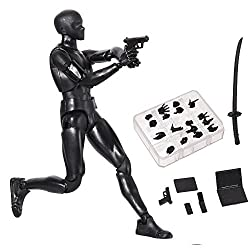 Tulas Action Figure Drawing Models, Human Mannequin Body Kun Doll Body-Chan Male/Female Action Figure DX Set with Accessories Kit, Suitable for Sketching, Painting, Drawing, Artist.