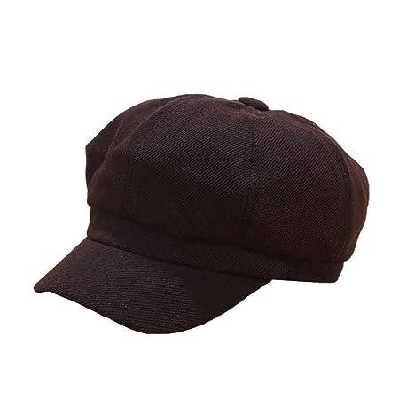 DaoRier Hombre Sombreros Boinas Color Sólido Boinas Gorra ...
