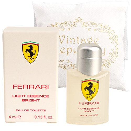 Original Scuderia Ferrari Light Essence Bright Eau De Toiltte EDT 4ml 0.13oz Cologne for Men Homme Perfume Miniature Mini Parfum Collectible Bottle New In Box