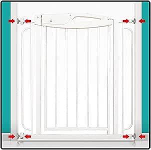 QIANDA Barrera Seguridad Niños Protector Escaleras Bebe Pasillo Ancho Fit Baby Safety/Puerta/Escalera, Sin Taladrar Extensible A 155cm (Size : 89-105cm): Amazon.es: Hogar