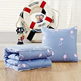 HOMEE Antarctic Person Vehicle Pillow Quilt Dual-Use Pure Cotton Fold Small Blanket Office Sofa Bed on the Lumbar Support Rest is the Dream of Stars ,4545,,Aeros light,4545