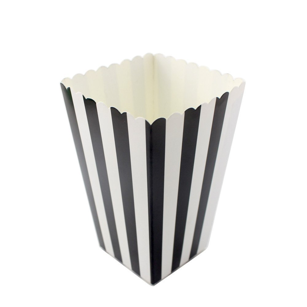 Amazoncom Ipalmay Black And White Striped Mini Paper Popcorn Boxes
