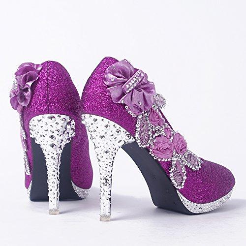Zeppa con donna GetmorebeautyUpdate Purple Sandali B170qRv7