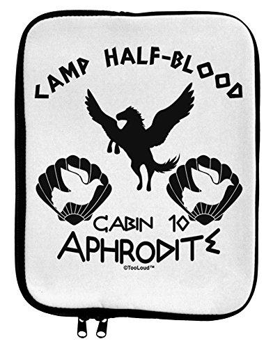 [TooLoud Cabin 10 Aphrodite Camp Half Blood 9 x 11.5 Tablet Sleeve - White Black] (God And Goddesses Costume Aphrodite)