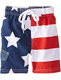 Boys' American Flag Swim Trunk