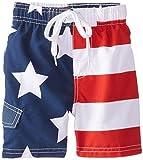 Kanu Surf Little Boys' Toddler American Flag Swim Trunks, Flag, 3T