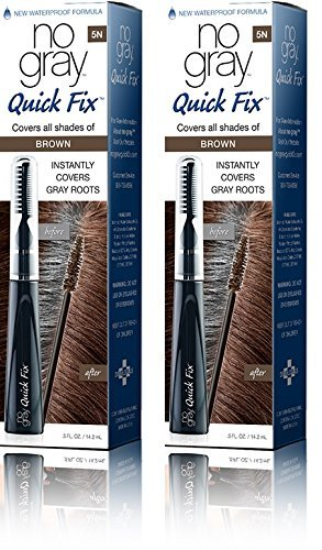 No Gray Quick Fix Instant Touch-Up for Gray Roots (Set of 2, Brown (M. Brown))