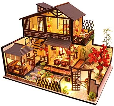 Mintuse Elegant 3D DIY Chinese Style VillaRockery Wooden Dollhouse Ancient Miniature Craft Toy Building Model (Multicolor Without Dust Cover) / Mintuse Elegant 3D DIY Chinese Style VillaRockery Wooden Dollhouse Ancient Miniature Cr...