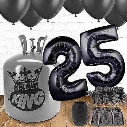 Paquete de globos y gas helio para 25 cumpleaños, color ...