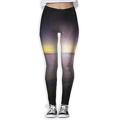 79003f2e550fa Amazon.com: XIUARROWXIU Women's Yoga Capris Aurora Legend Athletic Bandage  Running Pants Workout Leggings: Clothing