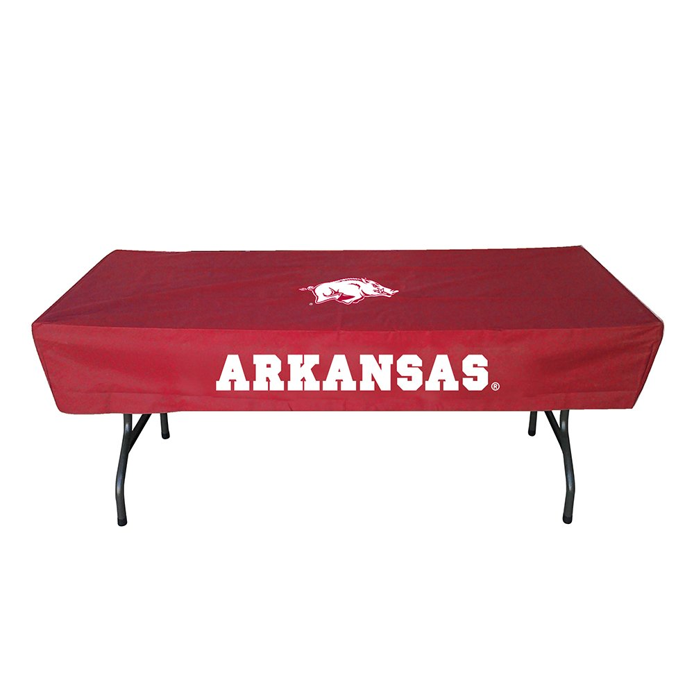 Rivalry Sports Team Logo Design Outdoor Travel Tailgating Arkansas 6 Foot Table Cover by Rivalry