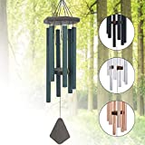 Memorial Wind Chimes Outdoor Large Deep Tone, 30'' Sympathy Wind Chime Amazing Grace Outdoor, Metal Wind-Chime Personalized With 6 Tuned Tubes, Elegant Chime For Garden, Patio, Balcony And Home, House