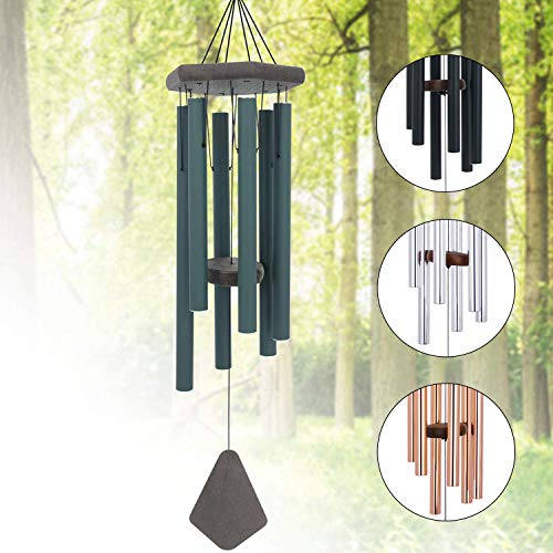 Memorial Wind Chimes Outdoor Deep Tone, 30 Inches Sympathy Wind Chime Amazing Grace Outdoor, Metal Wind-Chime Personalized with 6 Tuned Tubes, Elegant Chime for Garden, Patio, Balcony and Home, House ()