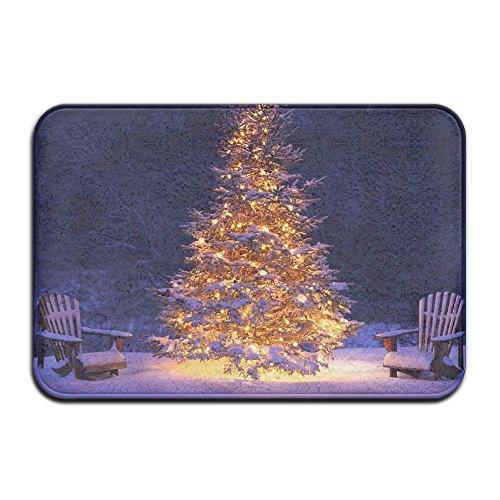 Jingclor Door Floor Mat Area Rug Christmas Day Lamp Tree Entrance Mat Non-Slip Indoor Outdoor Foot Pad Bumblebee Absorption - Lamp Hawk Floor